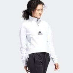 ADIDAS | GAME AND GO 1/4 zip white sweatshirt